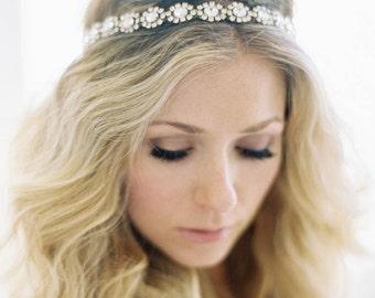 Crystal Headband, Crystal Halo, Crystal Hair Vine, Crystal Tiara, Bridal Headband, Wedding Headband, Boho Headband, Tiara, Veronica Headband