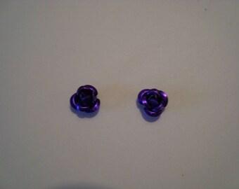 Purple metal roses 2