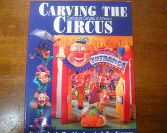 vtge book-carving the circus-wood cartooning-Fox books-how to carve- how to book-copyright 1997-