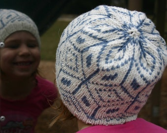 Child Fair Isle Hat - Cashmere and Merino, Hand Knit