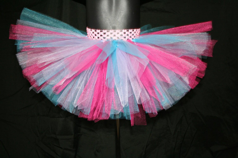 Tutu de Pascua rosado turquesa y lila tutú faldas tutú