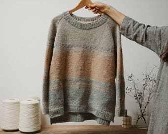 Biches & Bûches no. 50, top-down sweater, knitting kit