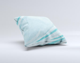 Vintage Blue Swirled ink-Fuzed Decorative Throw Pillow