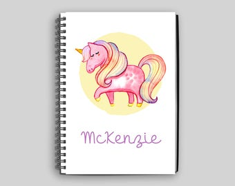 Unicorn Notebook ~ Personalized Unicorn Notebook ~ Unicorn ~ Custom Notebook ~ Child's Diary ~ Child's Journal ~ Unicorn Gift