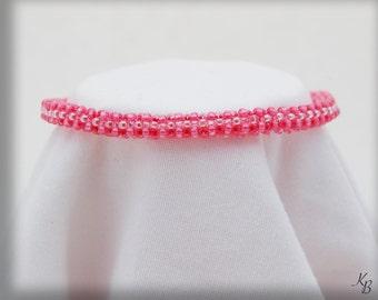 Pink & White Rope Bracelet