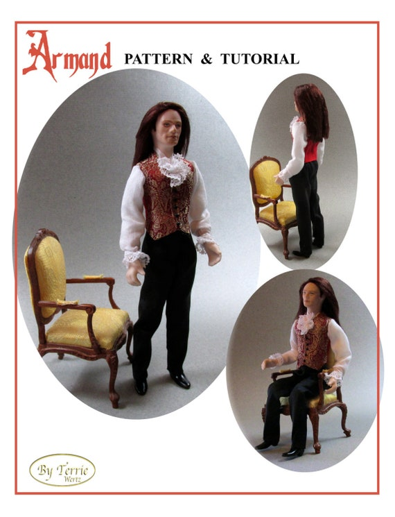 Dollhouse Doll ARMAND Man Doll DIY Pattern and Tutorial PDF Miniature Dollhouse 1:12 Scale Instant Download (Intermediate)