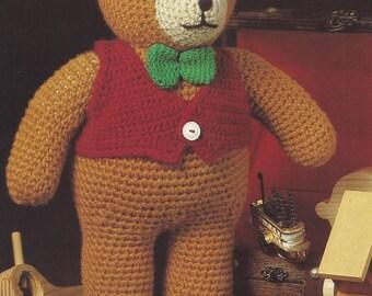 Old-Tyme Teddy Bear, Annie's Attic Crochet Pattern Leaflet 87B52