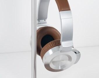 Modern Headphone Stand | PERCH V1.0 | Solid  Peruvian Walnut & Aluminum |