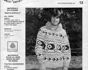 Cowichan Style Sweater #12 PDF Pattern