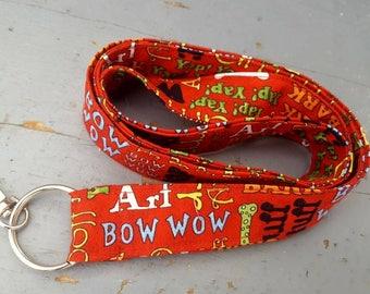 Dog Lanyard, Teacher's Lanyard, Badge Holder, ID Lanyard, Keychain, Keychain Lanyard, Badge Lanyard, Vet Tech Lanyard