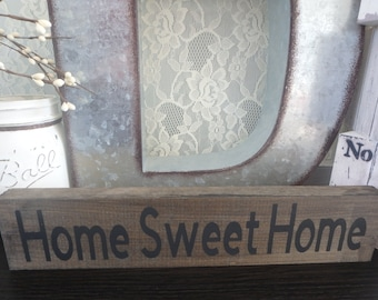Home Sweet Home Sign , Wooden Signs