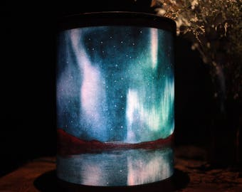 Northern light (Aurora borealis) - led paper lamp with dynamic visual effects