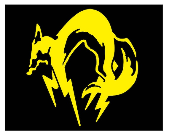 Foxhound Logo Decal Metal Gear Solid Special Forces Group