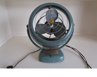 Vornado Desk Fan, 1950's Vintage Fan, Retro Fan, Vintage Vornado 2 Speed, Industrial Decor