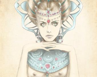 Illustration: K of Diamonds by Marisa Jiménez LIMITED EDITION 1/50.