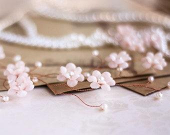 20 Vintage Headpiece, Wedding Crown, Pink gold Headpiece, Vintage Style crown, Millinery Headpiece, Bridal flower crown, Pearls Headpiece