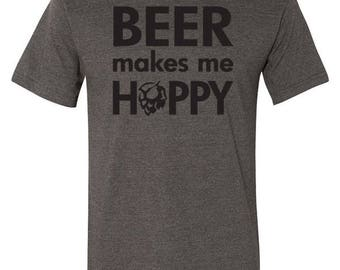 Beer Makes Me Hoppy- Bottle Opener Tee
