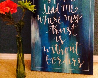 Spirit Lead Me Hillsong United Canvas Wall Decor Home Decor Quote DIY Gift Calligraphy