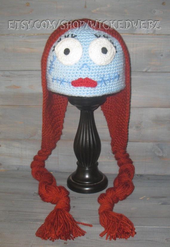 Adult Sally Nightmare Before Christmas Crochet Hat Jack