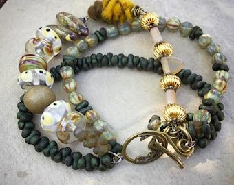 Multistrand Artisan Bead Bracelet