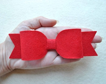 6 Piece Die Cut Felt DIY Large Emily Bows, Choose Your Colors