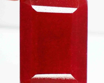 330.95 Ct Beautiful Certified Natural Emerald Cut African Red Ruby Gemstone AO2279