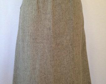 1970s grey wool skirt