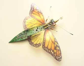 The Texas Monarch, Circuit Board Butterfly by Julie Alice Chappell
