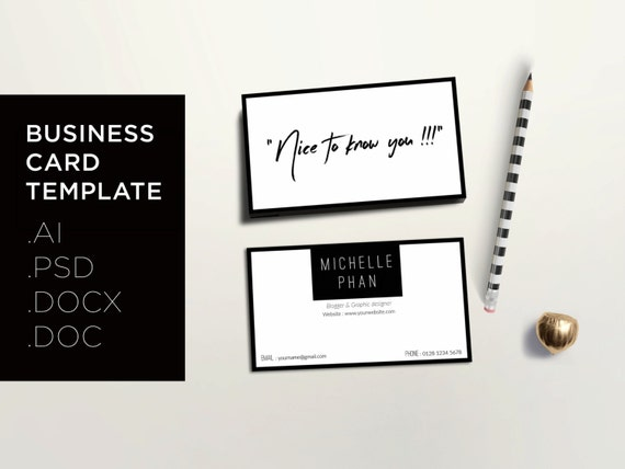 Modern Business Card Template Creative Calling Card