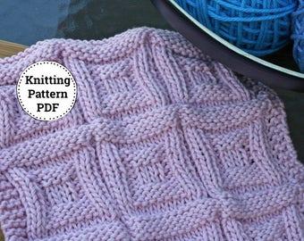 Knitting Pattern, Knitted Dishcloth, Dishcloth Pattern, Neutrals