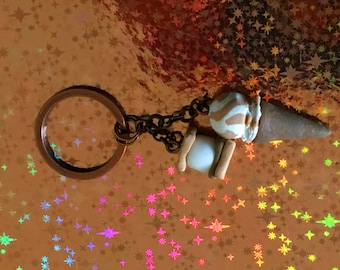 Ice Cream Cone and S'mores Keychain