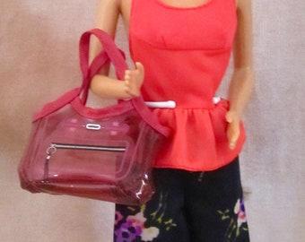 "Vintage Barbie Doll Midge Green Eyes Mattel 1985 In Outfit #7415 ""Red Top & Palazzo Pants"