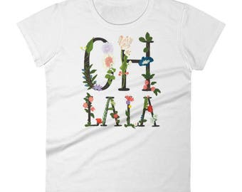 Oh la la - flower - Women's short sleeve t-shirt