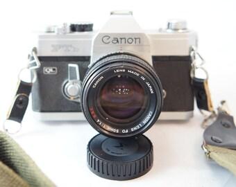 Vintage Canon FTb Camera with Vintage strap.