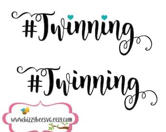 twin SVG, DXF, EPS cut file twinning svg twin cut file twins cut file baby cut file baby svg twinning cut file twin designs