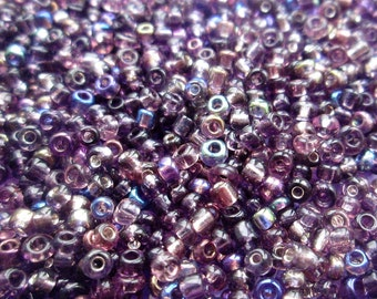50g 11/0 Seed Bead Mix/Seed Beads, Amethyst - SKU 11 019 (only pay postage on first item in an order)