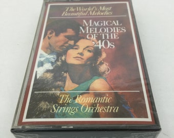 The Romantic Strings Orchestra Magical Melodies of The 40s Vintage Music Audio Cassette Tape 1995 Readers Digest KRS-023/A1 Sealed UnOpened