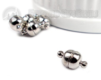 Silver Tone/Dark Silver, 13mm, Exceptionally Strong, 5 Clasps, Necklace Clasp, Bracelet Clasp, 5CL73-0001