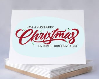 Holiday Card Boxed Set - Have A Merry Christmas - Funny Christmas Card, Funny Christmas Card, Christmas Card Set, Holiday Cards