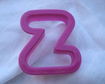 Purple Plastic Cookie Cutter Letter Z