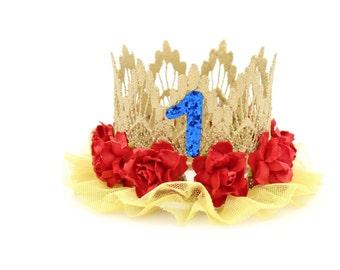 Princess Inspired    Birthday    princess lace crown headband    customize