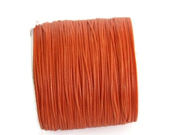 Orange Wax Cord, Orange Polyester Wax Cord  (0.8mm) 10 m- 11 yards S 40 107