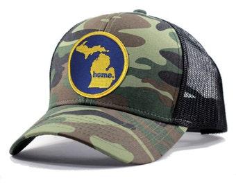 Homeland Tees Michigan Home Trucker Hat - Army Camo