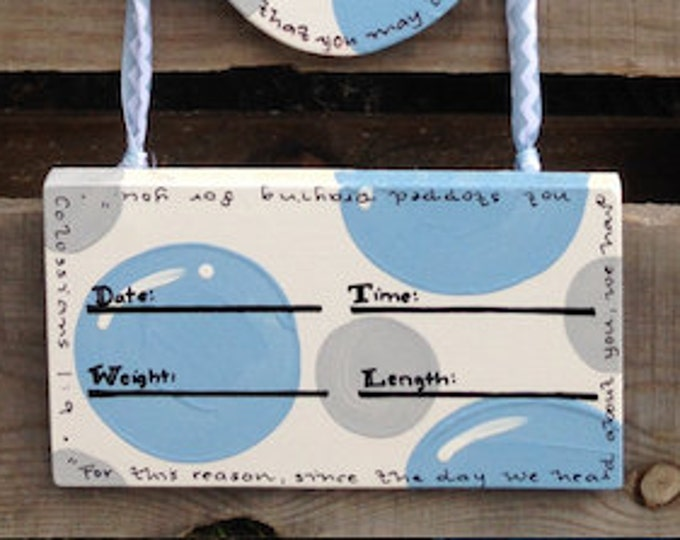 add Detachable Birth Stats plaque to add to bottom of any cross