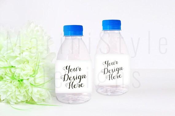 Oz Water Bottle Mockup Water Bottle Label Template Styled - 8 oz water bottle label template