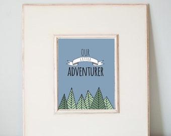 Our Little Adventurer in Color digital Print