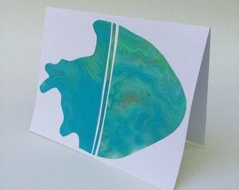 Original, Handmade, Abstract Painting, Greeting Card, Note Card, Blank Card