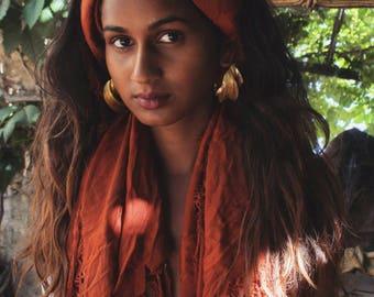 Fulani big earrings, Nomadic Heritage, exotic jewelry, bohemian, seed shape, leaf, twisted hoops, Fulani big size hoops