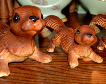 Set Of Three Cute Victoria Ceramic Sqirrels Made In Japan