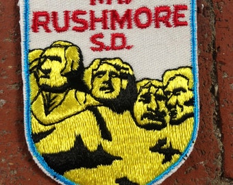 Mount Rushmore South Dakota Vintage Travel Patch by Voyager